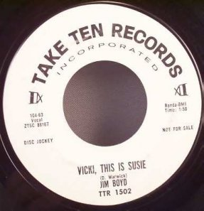 Boyd, Jim - Don't Ask For More / Vicki This Is Susie Vinyl 45 7