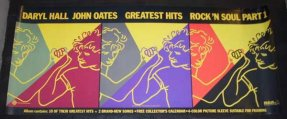 Hall & Oates -Greatest Hits Rock N Soul Part 1 Promo Poster 1983