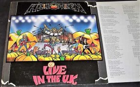 Helloween - Live In The U.K. Vinyl LP Brazilian W/Lyrics