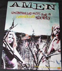Amen - Uncontrolled Music For A Controlled Society Promo Poster