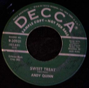 Quinn, Andy - Sweet Treat / It\'s Easy To See Vinyl 45 Promo
