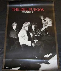 Del Fuegos - Stand Up 1987 Promo Poster