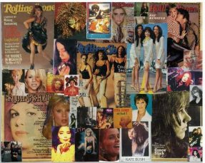 Girls of Pop 1A Collage 8 X 10 Benatar, Kate Bush, Bjork, PJ +