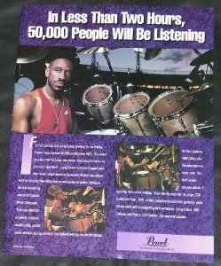 Calhoun, Will - Living Colour Pearl Drums Trade Ad