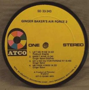 Baker, Ginger - Ginger Baker's Air Force 2 Coaster