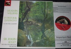 Boult, Adrian - Vaughan Williams A Pastoral Symphony Vinyl LP