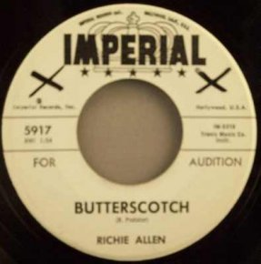 Allen, Richie - Butterscotch / Sunday Picnic Vinyl 45 7