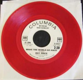 Price, Ray - Make The World Go Away Red Vinyl 45 7 Promo