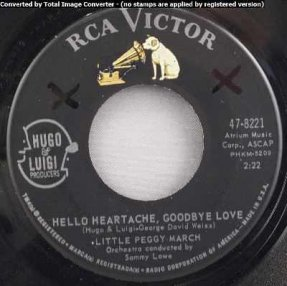 March, Little Peggy - Hello Heartache Goodbye Love/Boy Crazy 45
