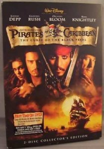 Pirates Of The Caribbean Curse Of The Black Pearl DVD 2 Disc Set