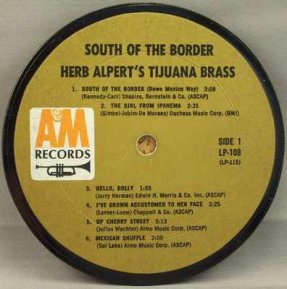 Alpert, Herb & The Tijuana Brass - South Of The Border Coaster