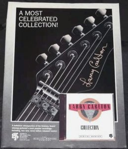 Carlton, Larry - Collection GRP 1990 Musician Magazine Trade Ad