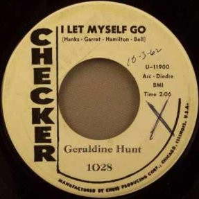Hunt, Geraldine - I Let Myself Go / I Wished I Had Listened 45