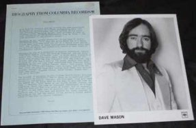 Dave Mason, Dave - Mariposa de Oro Promo Press Kit W/Photo