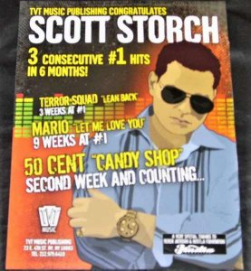 Storch, Scott - TVT Congratulates Scott Storch Trade Ad