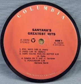 Santana - Greatest Hits Coaster