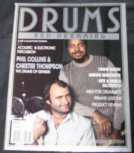 Drums and Drumming Magazine Summer 1987 Phil Collins C. Thompson