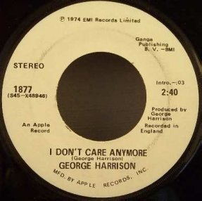 Harrison, George - Dark Horse / I Don\'t Care Anymore Promo 45