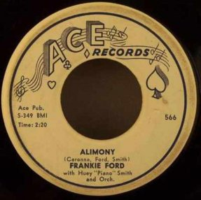 Ford, Frankie - Alimony / Can't Tell My Heart Vinyl 45