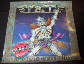 Y&T - In Rock We Trust 1984 Promo Poster