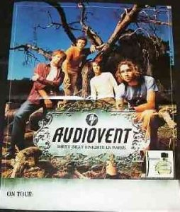 Audiovent - Dirty Sexy Knights In Paris Promo Rock Poster