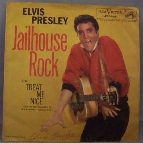 Presley, Elvis - Jailhouse Rock / Treat Me Nice Picture Sleeve