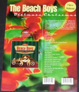 Beach Boys - Ultimate Christmas Capitol Promo Advance Info Sheet