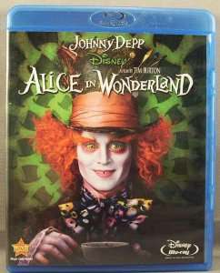 Alice In Wonderland Blu-Ray Disc Tim Burton Johnny Depp