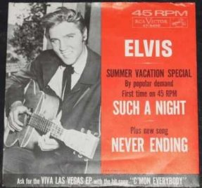 Presley, Elvis - Such A Night / Never Ending (Picture Sleeve)