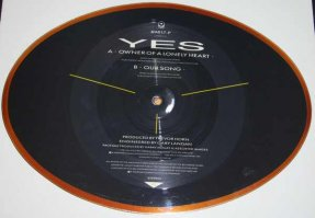 Yes - Owner Of A Lonely Heart / Our Song Shaped Picture Disc