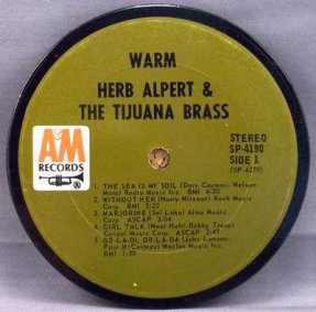 Alpert, Herb & The Tijuana Brass - Warm Coaster