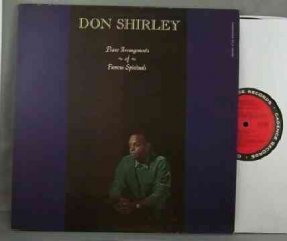 Shirley, Don - Piano Arrangements Of Famous Spirituals LP