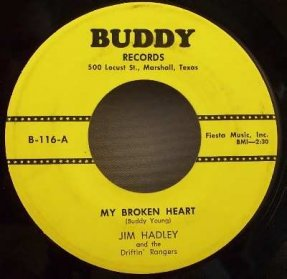 Hadley, Jim - My Broken Heart / Wanted Vinyl 45 7