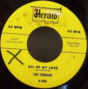 Turbans - All Of My Love / It Was A Nite Like This Vinyl 45 7