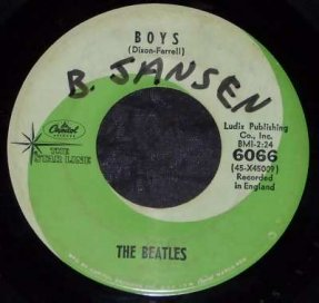 Beatles - Kansas City / Boys Vinyl 45 7 Green Star Line