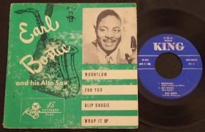 Bostic, Earl & His Alto Sax Vinyl 45 7 EP W/PS