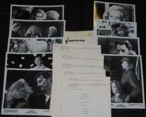 Frances Promo Press Kit W/Photos and Info Sheets Jessica Lange