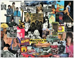 Rock and Roll Collage 5 Beatles, Marilyn Monroe Joan Jett 5 X 7