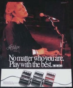 Healey, Jeff & DOD Guitar Effects Musician Trade Ad 1990