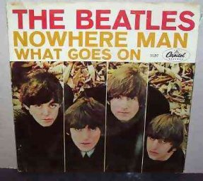 Beatles - Nowhere Man / What Goes On Vinyl 45 7 W/PS