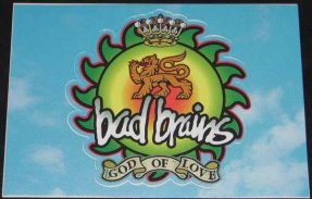 Bad Brains - God Of Love Promo Sticker / Postcard