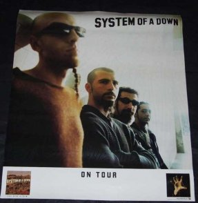 System Of A Down - System Of A Down On Tour Promo Poster