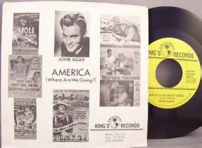 Agar, John - America / Write A Country Song Vinyl 45 7 W/PS