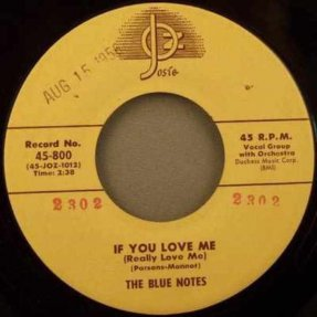 Blue Notes - If You Love Me / There\'s Something In Your Eyes..45