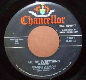 Avalon, Frankie - Call Me Anytime / All Of Everything 45