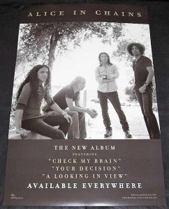 Alice In Chains - Black Gives Way To Blue Dbl Sided Promo Poster