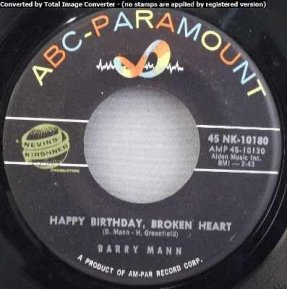 Mann, Barry - Millionaire/Happy Birthday Broken Heart 45