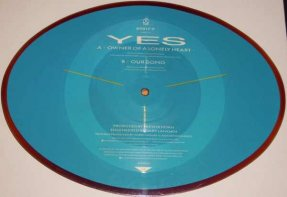 Yes - Owner Of A Lonely Heart / Our Love UK Shaped Picture Disc