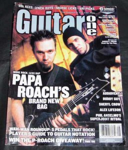Guitar One Magazine August 2002 Papa Roach