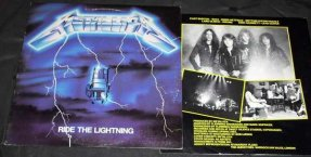 Metallica - Ride The Lightning Vinyl LP W/Lyrics
